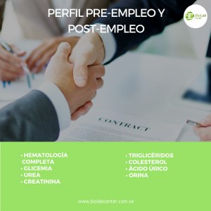 Perfil Pre-Empleo y Post-Empleo Biolab Center