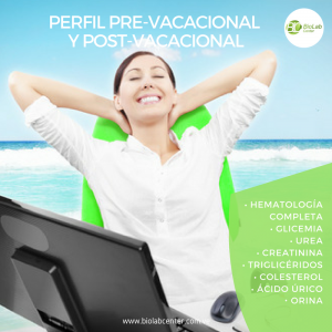 Perfil Pre-Vacacional y Post-Vacacional Biolab Center